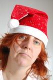 Sad single Christmas woman Stock Image