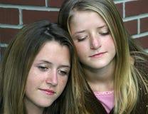 Sad Sisters stock photography