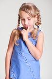 Sad small girl Stock Images