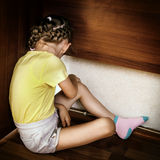 Sad Small Girl Royalty Free Stock Images