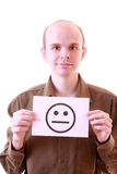 Sad smile Stock Image