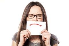 Sad smile Stock Photo