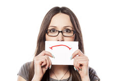 Sad smile Royalty Free Stock Photography