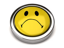 Sad smiley Stock Photography