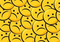 Sad smiley Stock Photos