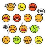 Sad smileys stock image