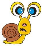 Sad snail with big eyes Royalty Free Stock Image