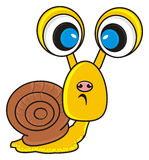 Sad snail with big eyes Royalty Free Stock Photography