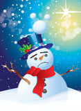 Sad Snowman Royalty Free Stock Image