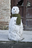 Sad snowman Royalty Free Stock Photo