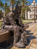 Sad Soldier Statue, Cartagena,  Spain Stock Image