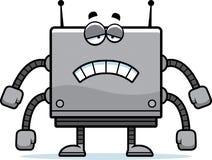 Sad Square Robot Stock Image