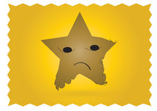 Sad star character Stock Photo