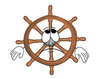 Sad steering wheel illustration Stock Image