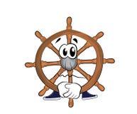 Sad steering wheel illustration Stock Photos