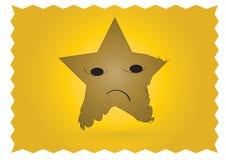 SAD stjärna för tecken Arkivfoto
