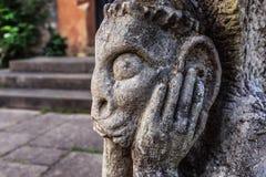 Sad Stone Gargoyle in Franconia, Germany Royalty Free Stock Image