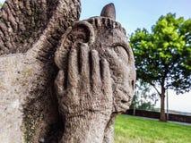 Sad Stone Gargoyle in Franconia, Germany Stock Image