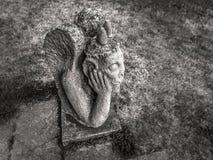 Sad Stone Gargoyle in Franconia, Germany Royalty Free Stock Photos