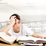 Sad Student stock image