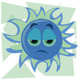 Sad sun Royalty Free Stock Photo