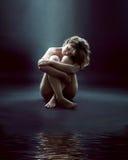 Sad Swan Royalty Free Stock Images