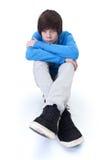 SAD tänka för tonåring Arkivfoto