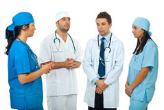 Sad  team doctors have a  discussion Stock Photography