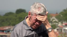 Sad And Tearful Old Man Or Senior Stock Image