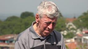 Sad And Tearful Old Man Or Senior stock footage