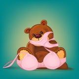 Sad teddy bear gift with pink underwear Stock Image