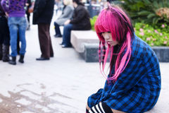 Sad teen Stock Photo