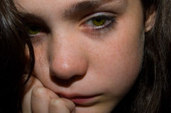 Sad Teen. Teen girl looking sad and alone Royalty Free Stock Photos