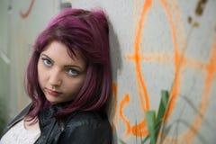 SAD teen för flicka Royaltyfri Foto