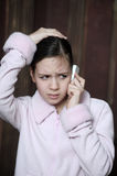 Sad teen girl Stock Image