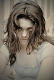 sad teen girl depressed Stock Photos