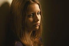 Sad teen girl. Depressed upset sad teen girl Royalty Free Stock Photography