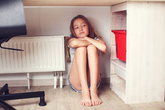 Sad teen at home Stock Photography