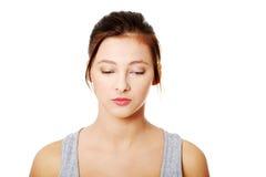 Sad teen sad woman. Royalty Free Stock Photos