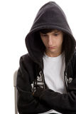 Sad teenage boy royalty free stock photography