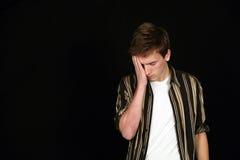 Sad teenage boy Royalty Free Stock Photo