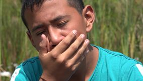 Sad Teenage Boy stock video footage