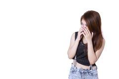 Sad teenage crying alone Royalty Free Stock Photos