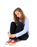 Sad teenage girl Stock Images