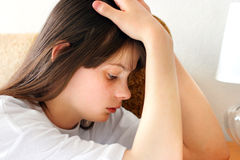 Sad teenage girl Stock Images