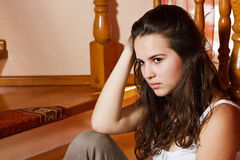 Sad teenage girl Royalty Free Stock Image