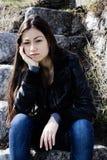 Sad teenage girl Royalty Free Stock Photos