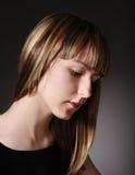 Sad teenage girl closeup Stock Images