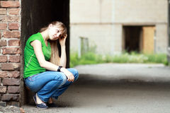 Sad teenage girl Royalty Free Stock Photo