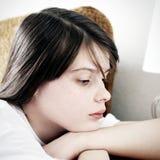 Sad Teenage Girl. Portrait of Sad Teenage Girl at the Home Royalty Free Stock Photo